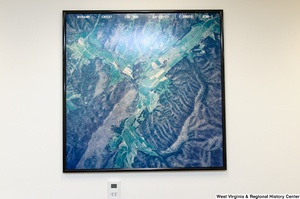 "[""A satellite image of part of West Virginia hangs in Senator John D. (Jay) Rockefeller's office.""]%"