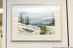 "[""A landscape drawing hangs in Senator John D. (Jay) Rockefeller's office.""]%"