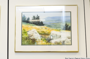 "[""A drawing of a meadow hangs in Senator John D. (Jay) Rockefeller's office.""]%"