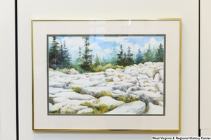 "[""A rocky landscape drawing hangs in Senator John D. (Jay) Rockefeller's office.""]%"