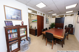 "[""This photo shows the conference room in Senator John D. (Jay) Rockefeller's office.""]%"