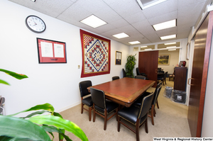 "[""This photograph shows the conference room in Senator John D. (Jay) Rockefeller's office.""]%"