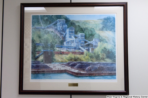 "[""A painting of a coal barge on a river hangs in Senator John D. (Jay) Rockefeller's office.""]%"