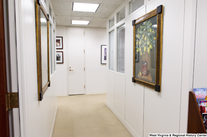 "[""This photo shows a hallway in Senator John D. (Jay) Rockefeller's office.""]%"