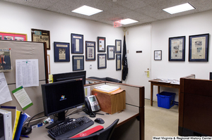 "[""This photo shows the press wing of Senator John D. (Jay) Rockefeller's office.""]%"