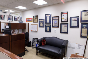 "[""This photo shows a corner of Senator Rockefeller's press office.""]%"
