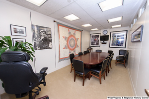 "[""This photo shows a conference room in Senator Rockefeller's office.""]%"