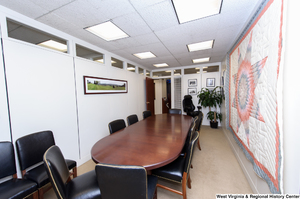 "[""This shows a conference room in Senator Rockefeller's office.""]%"