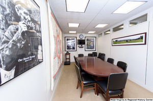 "[""This shows Senator John D. (Jay) Rockefeller's small conference room.""]%"