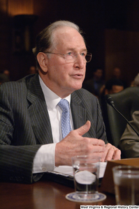 "[""Senator John D. (Jay) Rockefeller speaking at an Energy Committee hearing.""]%"