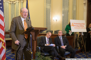 "[""Senator John D. (Jay) Rockefeller speaks at a Protecting Kids' Privacy Online event.""]%"