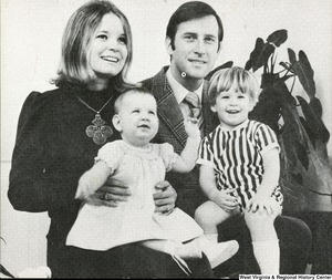 "[""The 1971 Rockefeller family holiday card reads, \""Holiday greetings and all good wishes for the new year.\"" Pictured are Jay, Sharon, Valerie, and Jamie (John) Rockefeller.""]%"