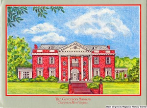 "[""The 1982 Rockefeller family holiday card reads, \""A very merry Christmas and a wonderful new year from all of us to you!\"" Pictured are Jay, Sharon, Valerie, Jamie (John), Justin, and Charles Rockefeller. The front features a drawing of the governor's mansion in Charleston, West Virginia, illustrated by Gaynelle W. Sloman.""]%"