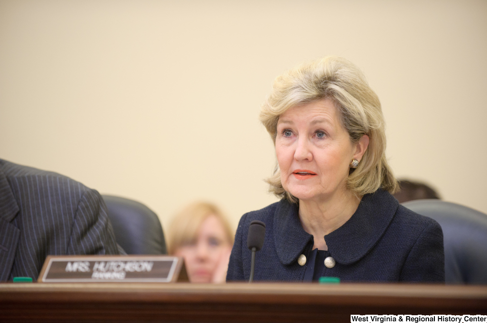 "[""Senator Kay Hutchison sits at a Commerce Committee hearing titled \""Safeguarding Our Future: Building a Nationwide Network for First Responders.\""""]%"