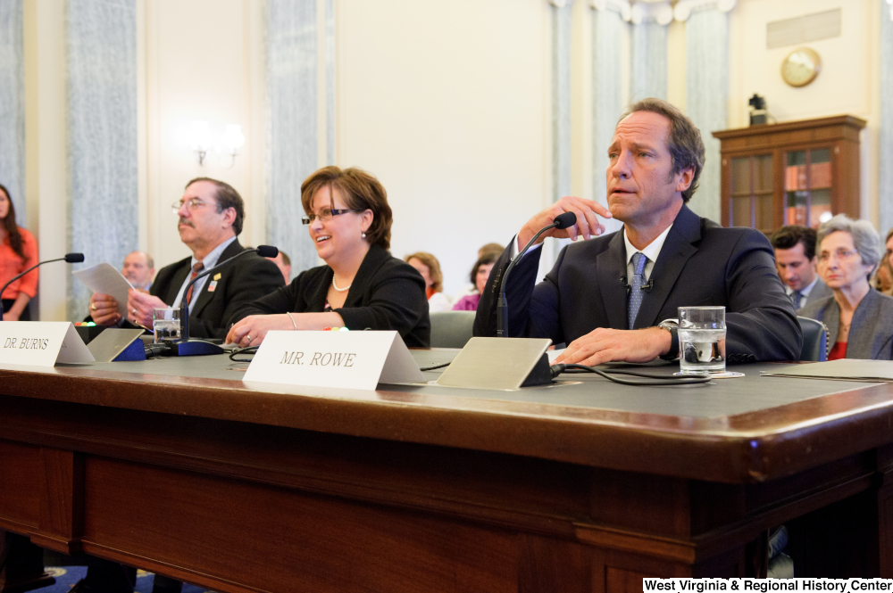 "[""Television personality Mike Rowe testifies before the Senate Commerce Committee hearing.""]%"