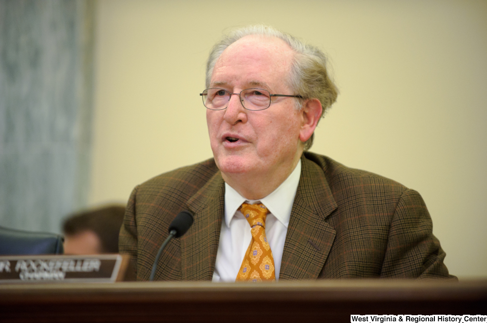 "[""Senator John D. (Jay) Rockefeller chairs an August 2012 Commerce Committee hearing.""]%"