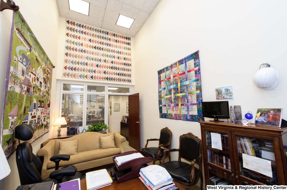 "[""This photo shows the Chief of Staff's office within Senator Rockefeller's office.""]%"