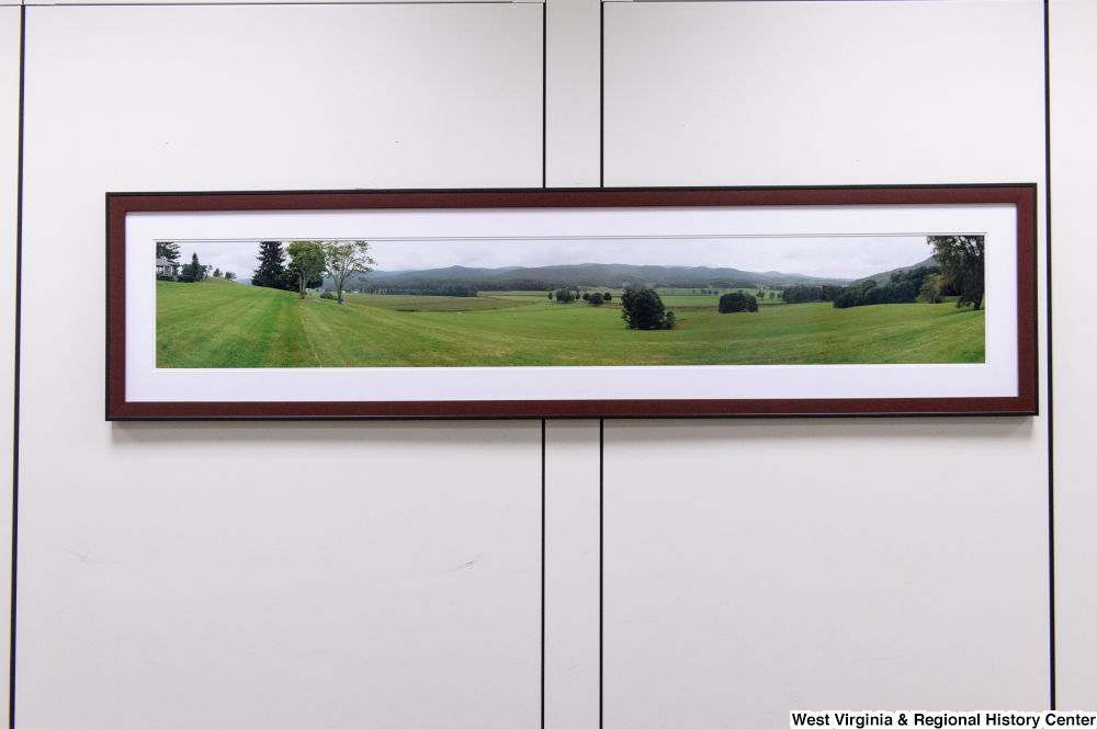 "[""A panoramic photograph of a field in West Virginia hangs in Senator Rockefeller's office.""]%"