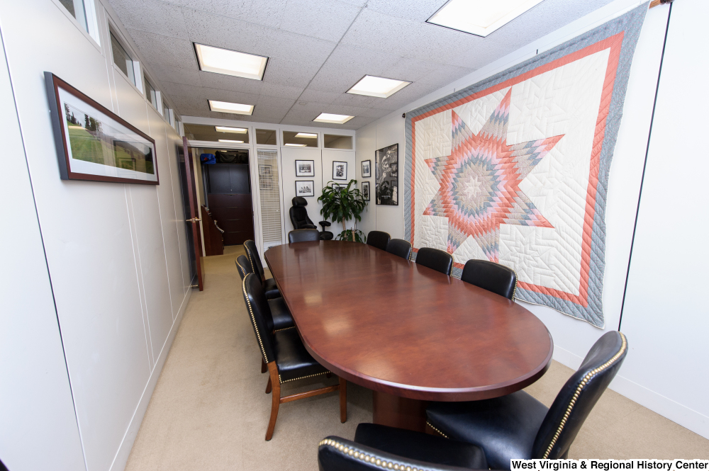 "[""This photo shows the back of a conference room in Senator John D. (Jay) Rockefeller's office.""]%"