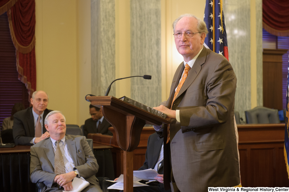 "[""Senator John D. (Jay) Rockefeller speaks at a Commerce Committee event called Protecting Kids' Privacy Online.""]%"